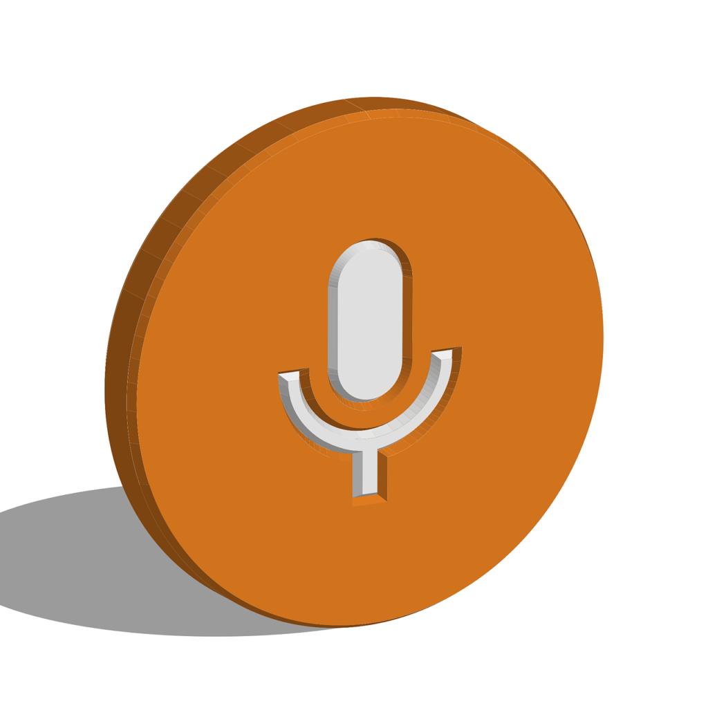 Illustrasjon symbol podcast